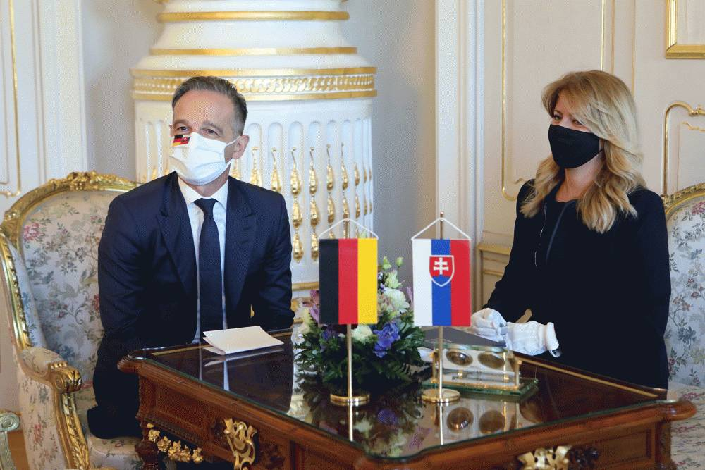 The president had a meeting with the German minister of foreign affairs, Heiko Maas.