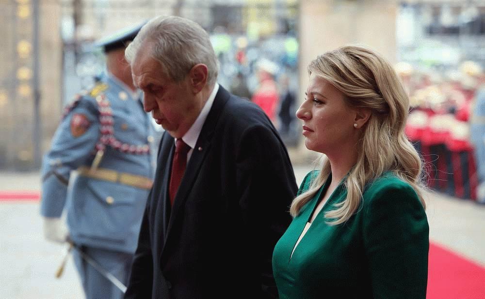 President welcomed in Prague by the Czech President