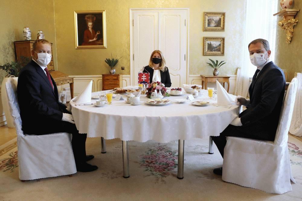 Prezidentka pozvala premiéra a predsedu NR SR na pracovné raňajky