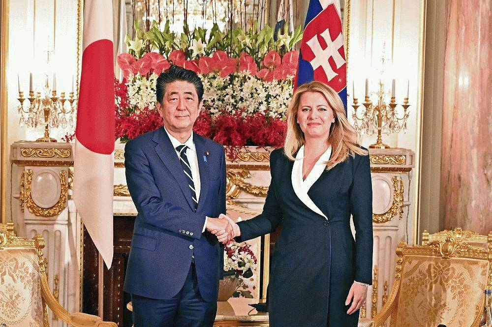 The president met the prime minister of Japan
