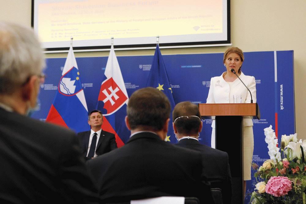 Z. Čaputová a B. Pahor otvorili slovensko-slovinské biznis fórum