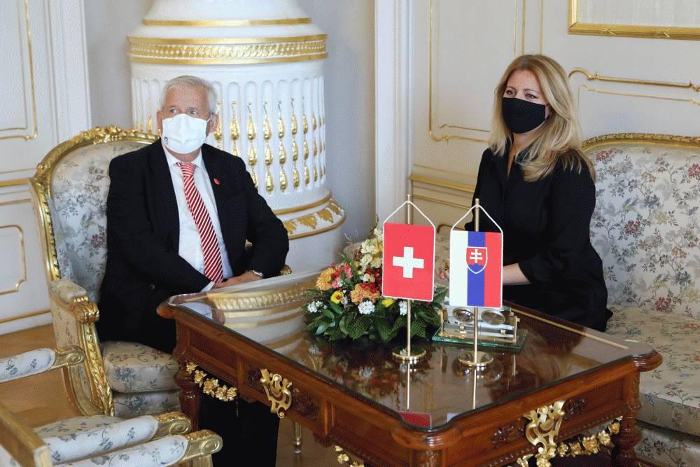 Prezidentka sa stretla s predsedom Dolnej komory švajčiarskeho parlamentu
