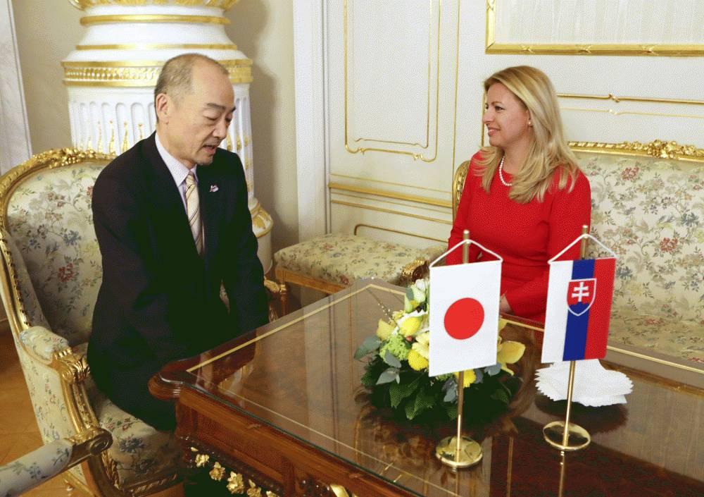 Prezidentka sa rozlúčila s veľvyslancom Japonska Junom Shimmim