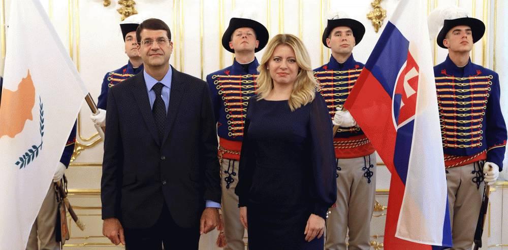 Prezidentka prijala nového cyperského veľvyslanca