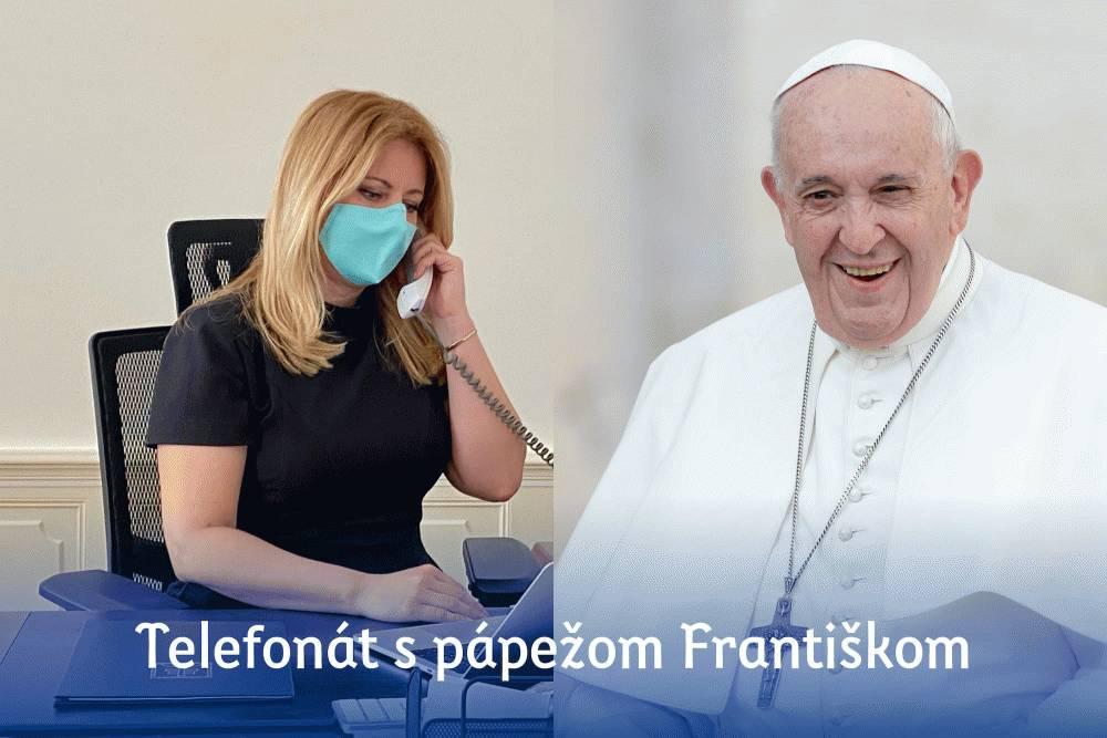Prezidentka telefonovala s pápežom Františkom