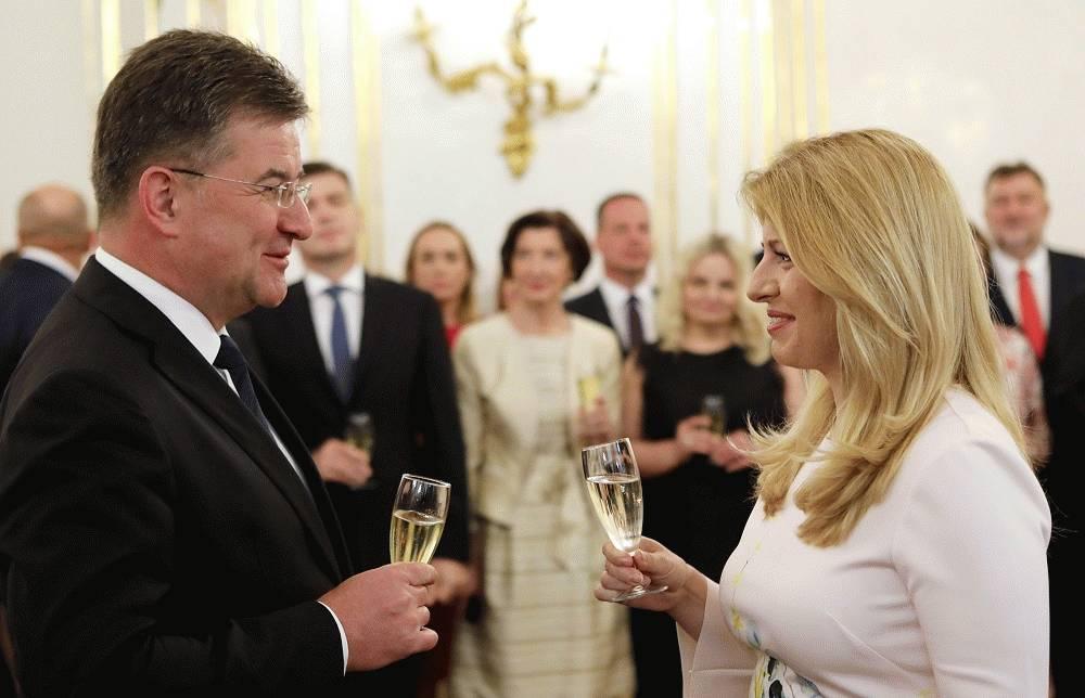 Prezidentka  sa stretla so šéfom diplomacie a veľvyslancami