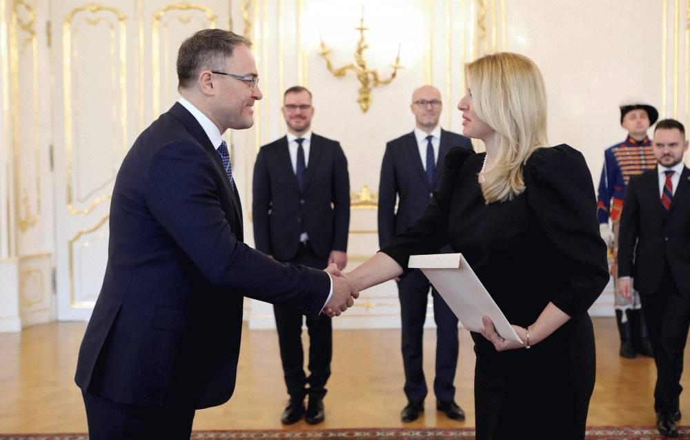 Prezidentka prevzala poverovacie listiny od nových veľvyslancov