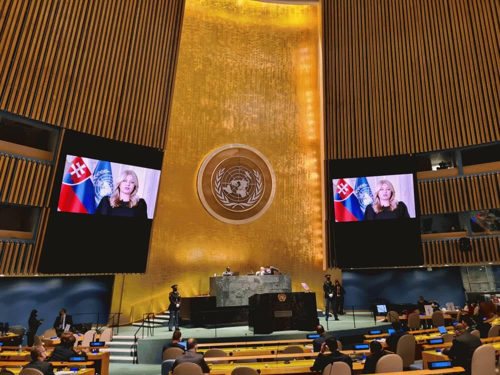 Prezidentka na Valnom zhromaždení OSN: Nemôžeme si dovoliť nekonať