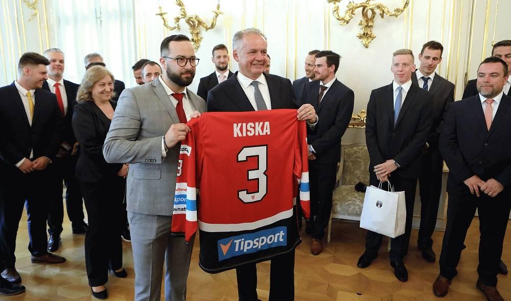 Prezident prijal hokejistov Banskej Bystrice
