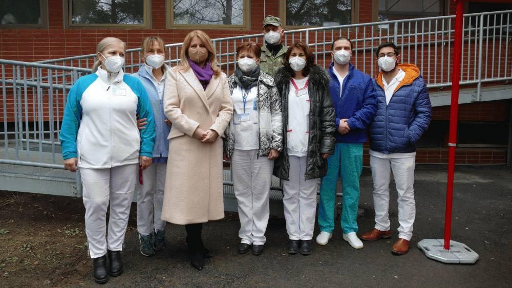 Prezidentka vyjadrila podporu zdravotníkom v prvej línii