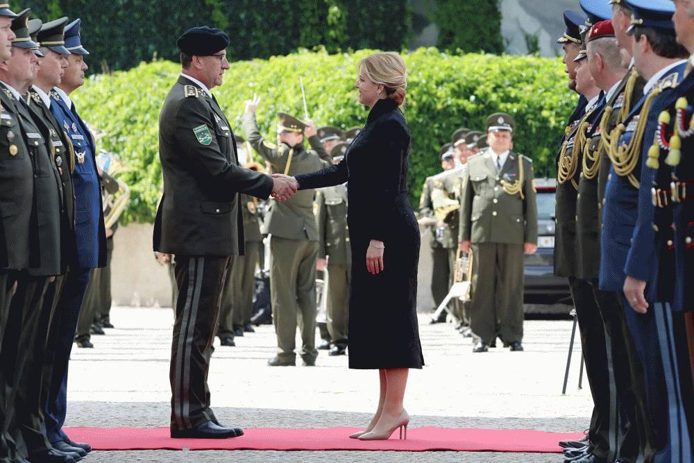 Prezidentka sa poďakovala za službu generálovi Jindřichovi Jochovi