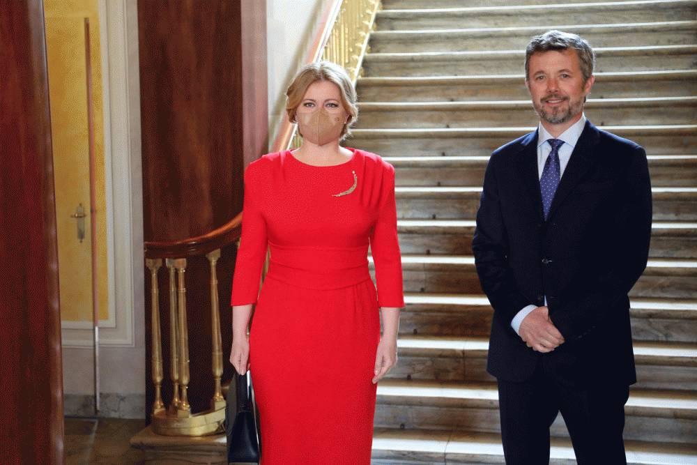 Prezidentka sa stretla s dánskym princom Frederikom