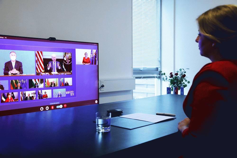 President participates in Bucharest Nine video summit