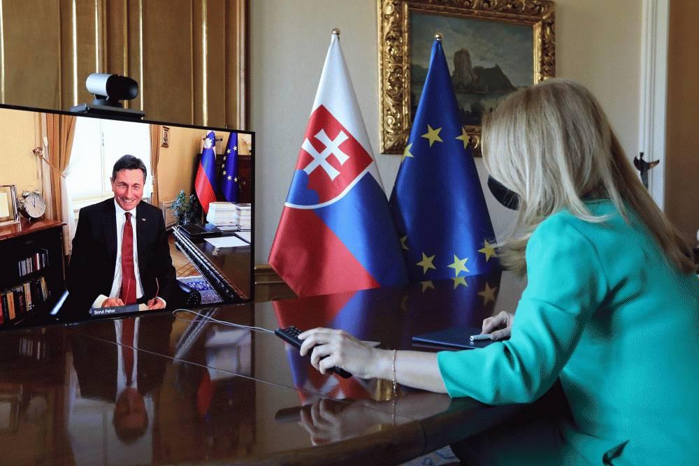 President Speaks with Slovenian President, Borut Pahor