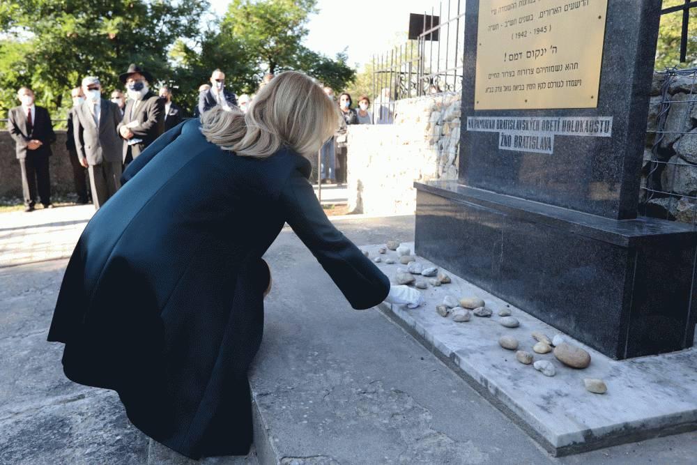 Prezidentka si uctila pamiatku obetí holokaustu