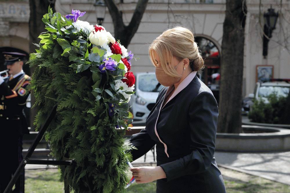Prezidentka si pripomenula výročie oslobodenia Bratislavy