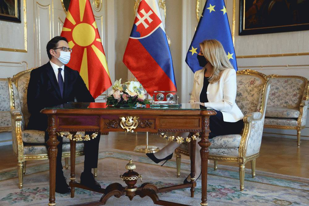 The President met with the President of North Macedonia, Stevo Pendarovski