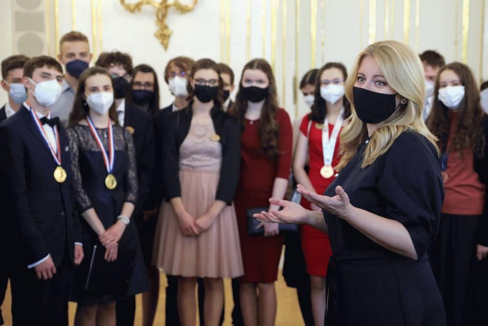 Prezidentka zablahoželala stredoškolákom k medzinárodným úspechom
