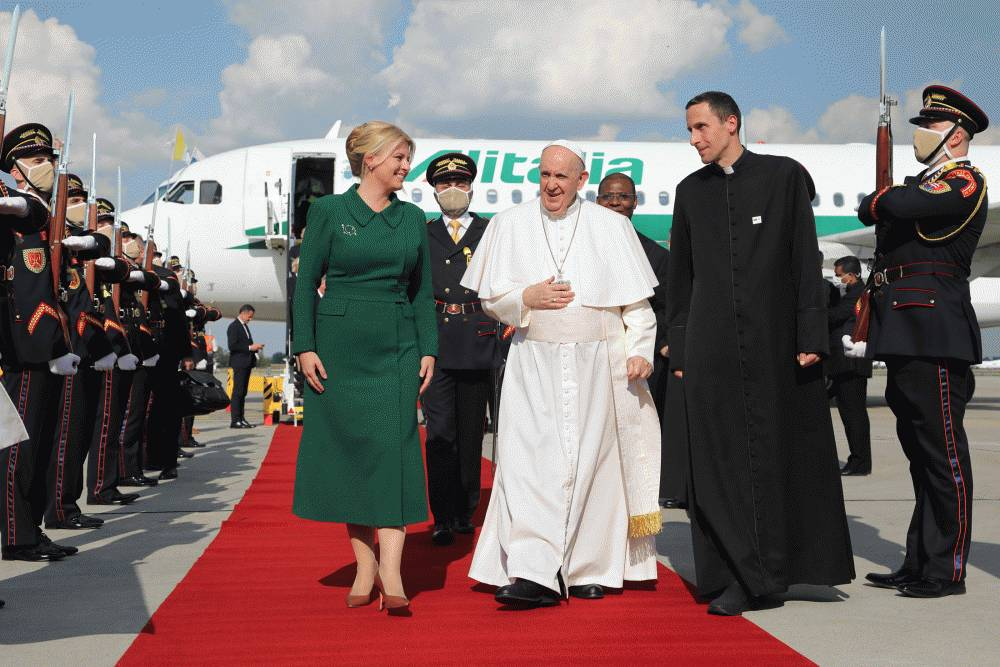 The President welcomed Pope Francis to Slovakia