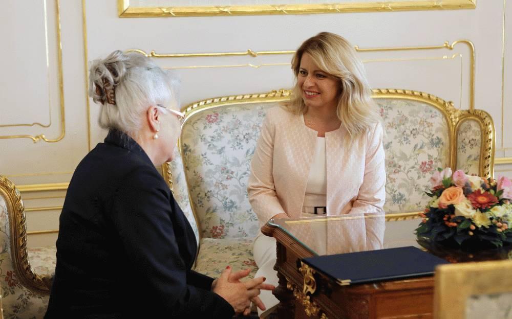 Prezidentka prijala predsedníčku Najvyššieho súdu