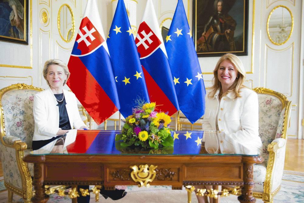 Prezidentka sa stretla s predsedníčkou Európskej komisie