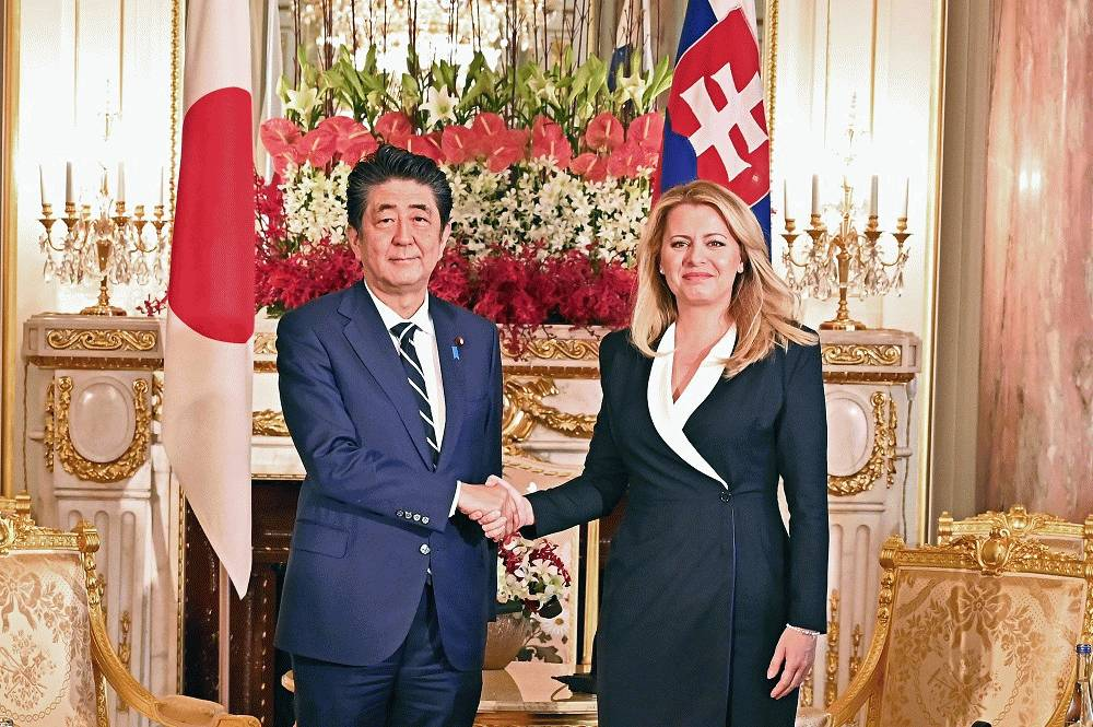 Prezidentka sa stretla s japonským premiérom