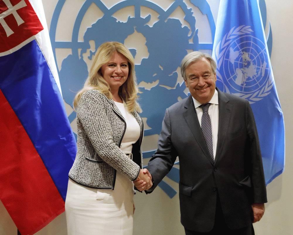 Prezidentka telefonovala s generálnym tajomníkom OSN Antóniom Guterresom