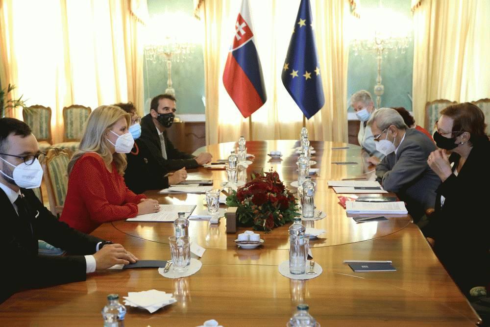 Prezidentka prijala zástupcov Jednoty dôchodcov Slovenska