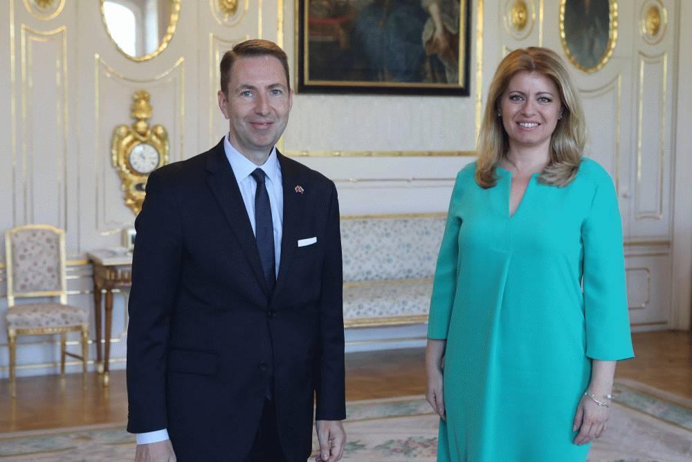 Prezidentka prijala odchádzajúceho britského veľvyslanca