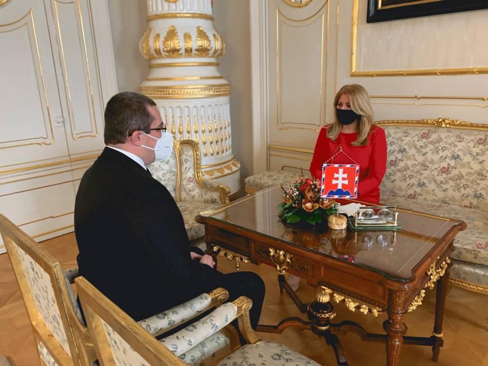 Prezidentka sa stretla s riaditeľom Národného bezpečnostného úradu