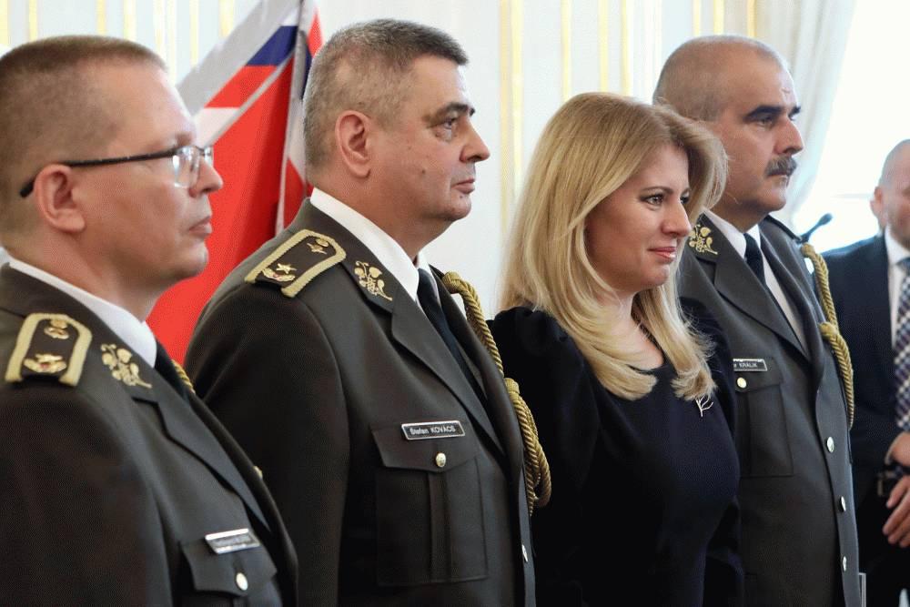 Prezidentka vymenovala nových generálov