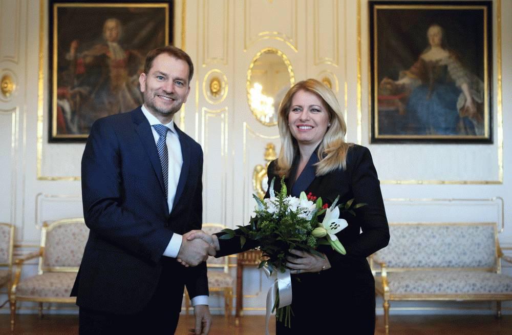 Prezidentka prijala víťaza volieb Igora Matoviča