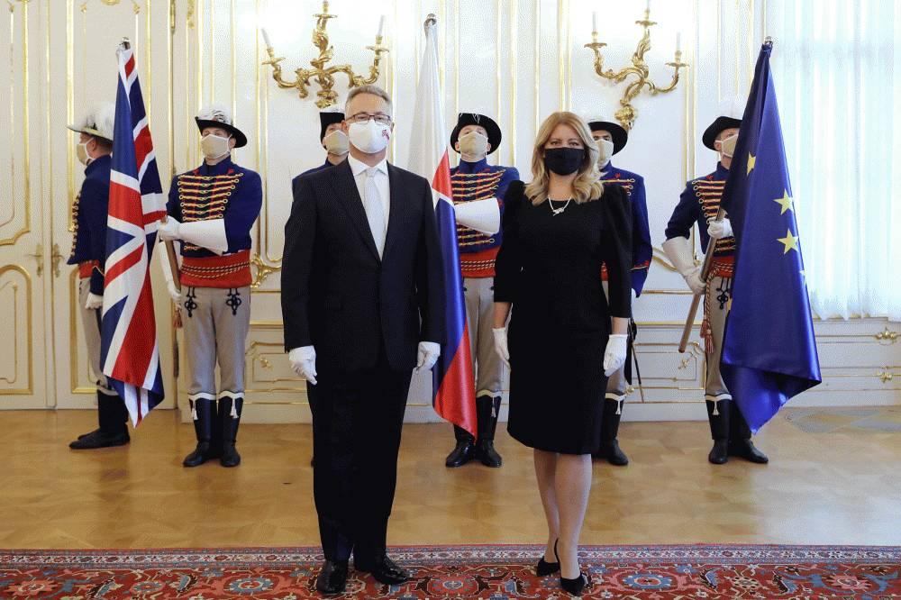 Prezidentka prijala nového britského veľvyslanca N. M. Bakera