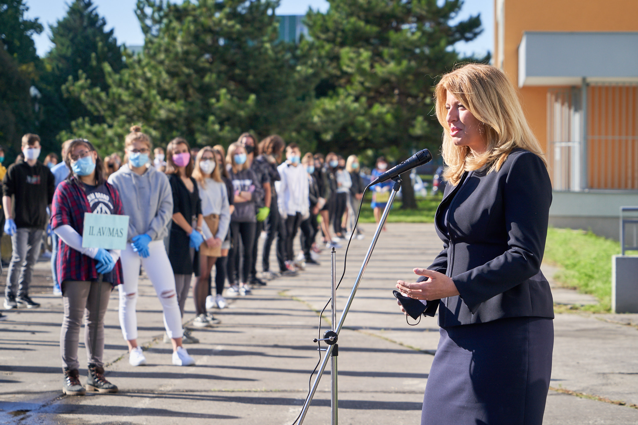 Prezidentka otvorila školský rok na Strednej zdravotníckej škole