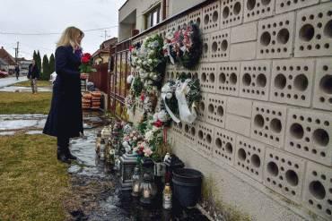 Prezidentka si uctila pamiatku Jána Kuciaka a Martiny Kušnírovej