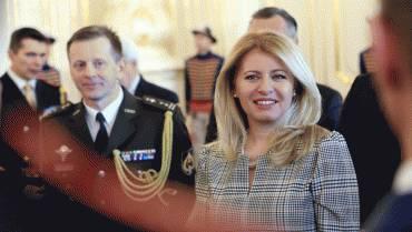 Prezidentka prijala ocenených najlepších vojakov a poddôstojníkov OS SR