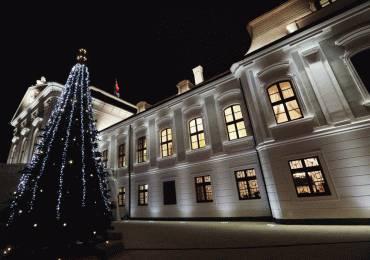 Prezidentský palác má nové osvetlenie