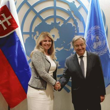 Prezidentka sa stretla s generálnym tajomníkom OSN
