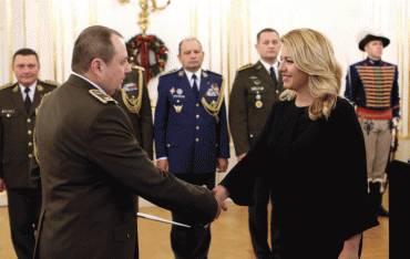 Prezidentka povýšila a vymenovala nových generálov