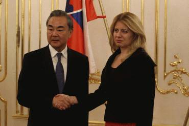 President Zuzana Čaputová received Mr Wang Yia, Minister of Foreign Affairs of the People's Republic of China