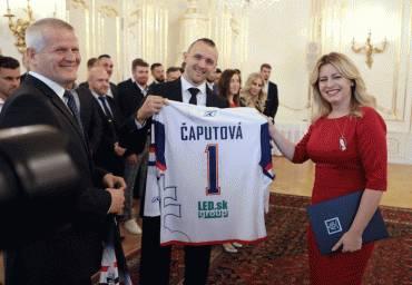 Prezidentka prijala úspešných športovcov aj prezidenta SOŠV