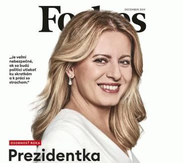 Magazín Forbes vyhlásil prezidentku za Osobnosť roka 2019